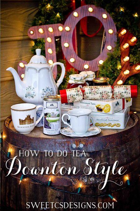 Downton Inspired Christmas Tea Party Picks