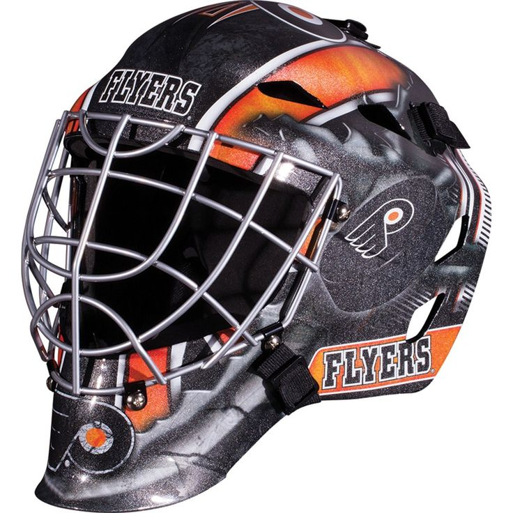 NHL Philadelphia Flyers Franklin Sports Goalie Helmet