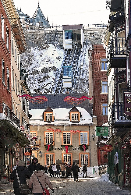 Old Quebec is a beautiful old city steeped in history, I used to live there  great place to visit but a tough place to live unless you love snow!