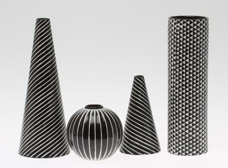Vaser: Domino, Stig Lindberg, Gustavsberg