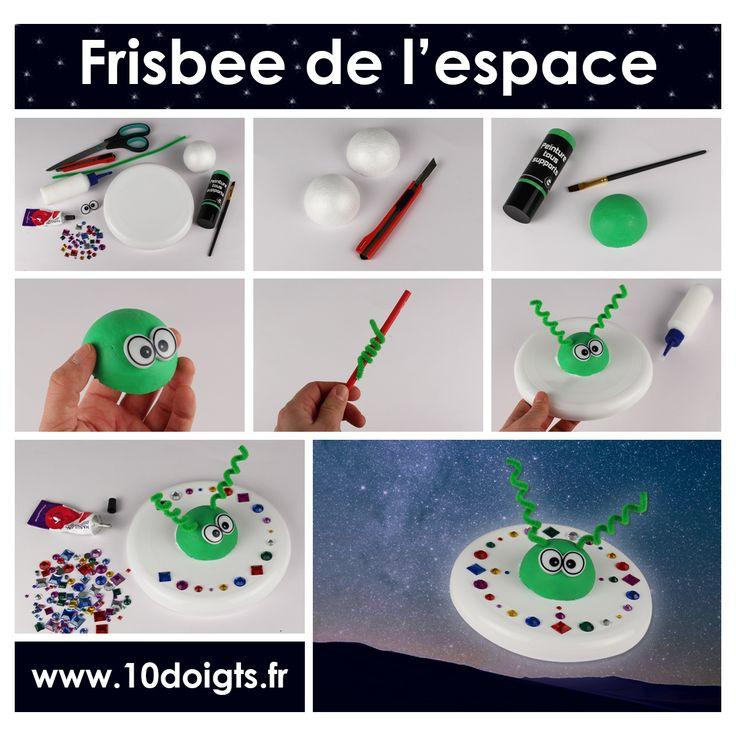 (FR) Transformez un simple Frisbee en une véritable soucoupe volante ! Une activité qui devrait ravir plus d'un enfant ! (EN) Make a flying saucer that is coming right from outer space. Kids will love this craft !