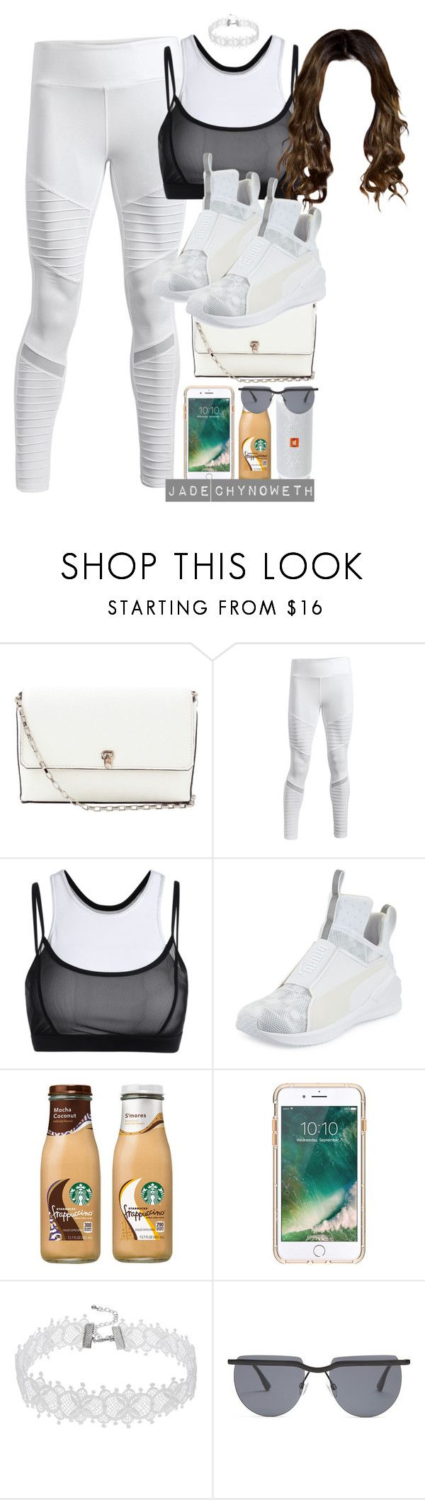 """""""Yo Gotti Ft. Nicki Minaj - Rake It Up (Jade Choreography)"""" by icanthandlethis ❤ liked on Polyvore featuring Valextra, Puma, JBL, Griffin and Le Specs"""