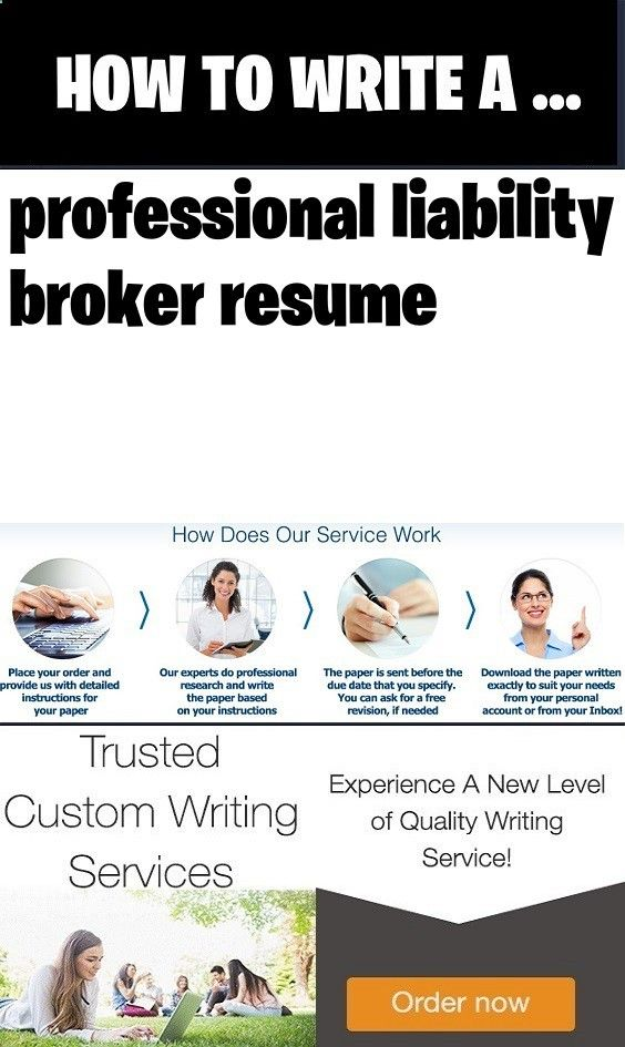 Professional liability broker resume Introduction for community