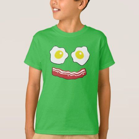 Bacon and Eggs smiley face T-Shirt - click to get yours right now!