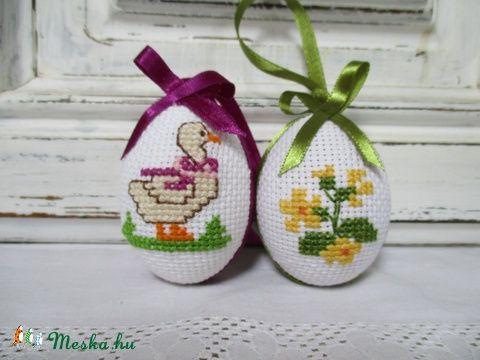 Hímzett tojások, Dekoráció, Húsvéti apróságok, Otthon, lakberendezés, Meska