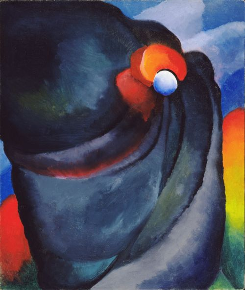 Lake George, Coat and Red, 1919. Georgia O'Keeffe. Oil on canvas