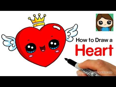 Draw So Cute Youtube Coloring In 2019 Pinterest Cute Heart