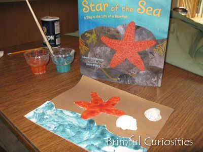 Brimful Curiosities: Star of the Sea by Janet Halfmann - Book Review and Puffy Paint Starfish Craft