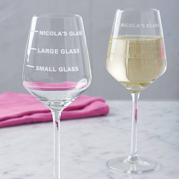personalised drinks measure wine glass by becky broome | notonthehighstreet.com