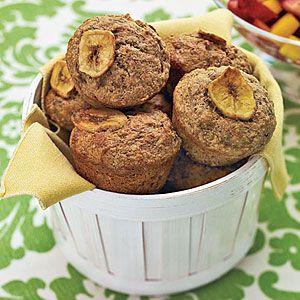 Whole-Wheat Banana Muffins   MyRecipes.com #myplate #grains