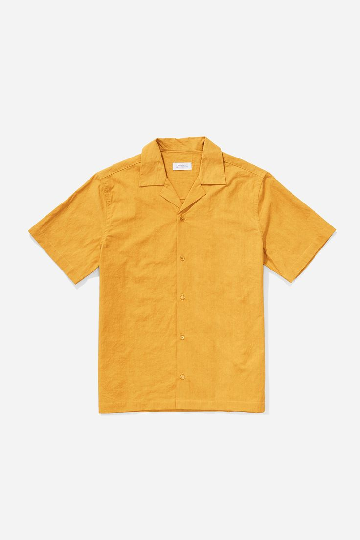 Canty Solid Button Down Shirt, Dusty Amber