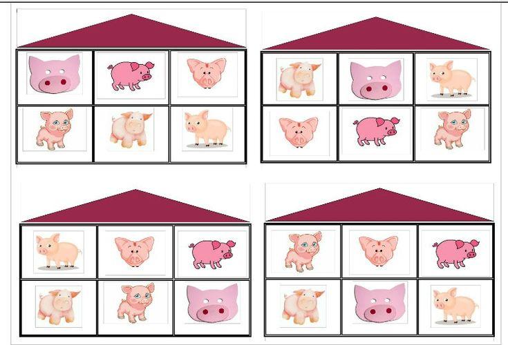 loto des trois petits cochons - Dans ma classe à moi, on fait comme ça