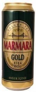 Cerveja Marmara Gold, estilo Standard American Lager, produzida por Anadolu Efes, Turquia. 4.1% ABV de álcool.