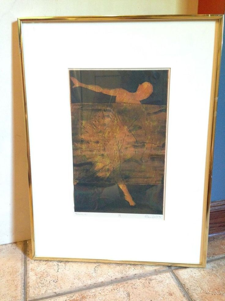 ELEANOR DROLL 1995 ICARUS GREEK MYTHOLOGY GOD VINTAGE ART ETCHING GOLD FRAME MO #GREEKGODMYTHICAL