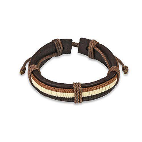 """Brown Genuine Leather Bracelet For Men or Women- Adjustable Length 7.5- 9.5"""" """" Crazy2Shop. $2.95. Material:Brown Genuine Leather. Adjustable: Yes"""