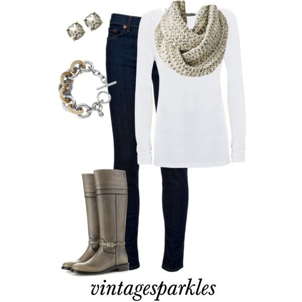 """Chunky Scarf"" by vintagesparkles78 on Polyvore"