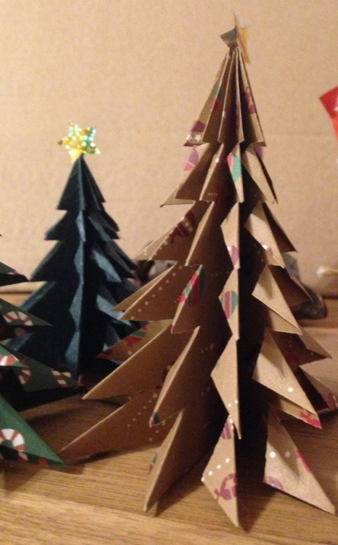 dcoration de table de nol tuto sapin origami - Decoration De Noel En Origami