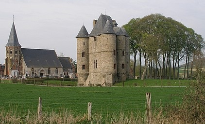 Bours Castle, locally known as Château or Donjon de Bours, lies in the village with the same name, south west of the town of Bruay-la-Buissière in the Pas-de-Calais department in the Nord-Pas-de-Calais region in France.