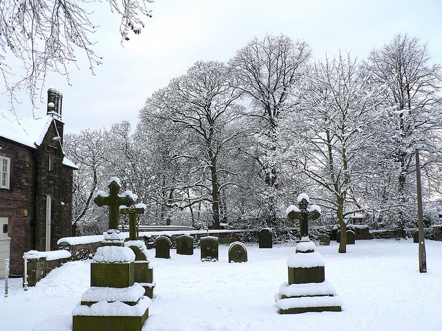 Wintry Graveyard - Graveyard of St Mary Magdalene, Whiston, Rotherham, South Yorkshire