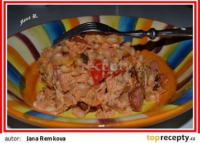 Zapečené pikantní fazole recept - TopRecepty.cz