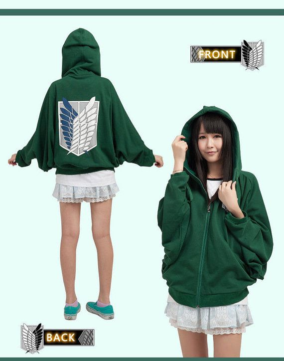 Attack on titan recon corps clothing cosplay hoodie unisex Fashion style questionnaire sample
