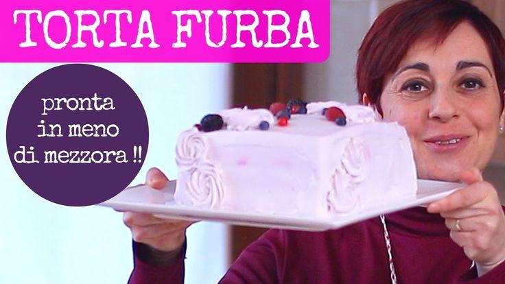 TORTA DI COMPLEANNO FURBA - Ricetta Facile per fare una torta alta quadr...