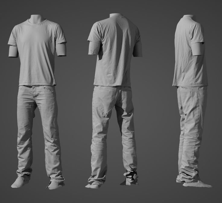 CG clothing folds reference