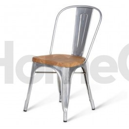 Replica Tolix Side Chair by Xavier Pauchard - Solid Wood Seat - Set of 4 * 2  In White