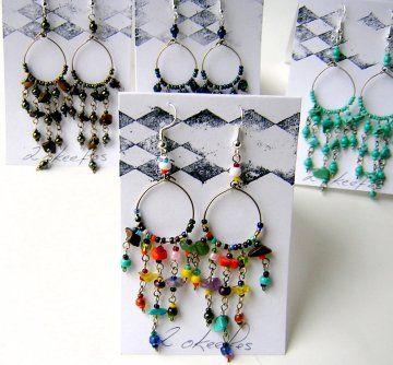 Beaded Hoop Earrings - 2okeefes.com