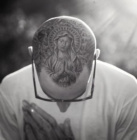 Travis Barker Scalp/Head Tattoo | Venice Tattoo Art Designs