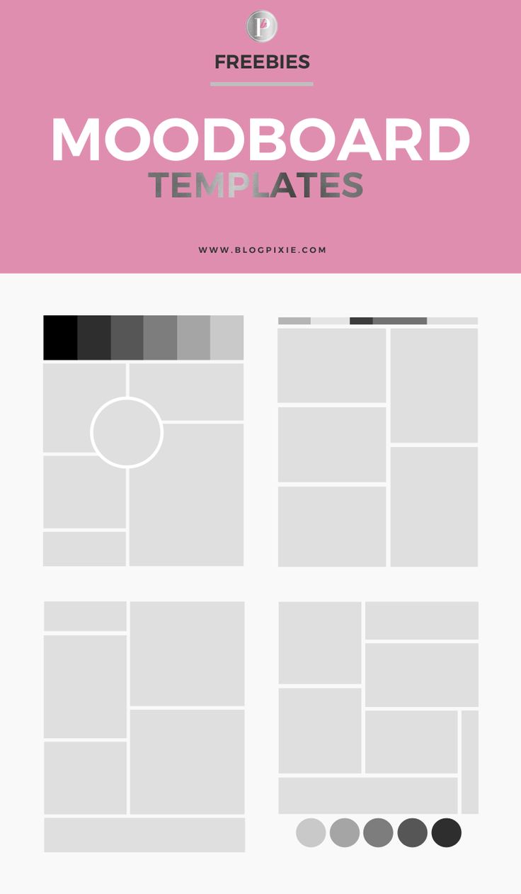 Blog Pixie | Blog Design, Branding + Social Media: How To Create A Moodboard + FREE Templates