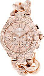 Michael Kors Camile Rose Gold Ladies Watch With Rose Gold Dial Stainless Steel Ladies Watch