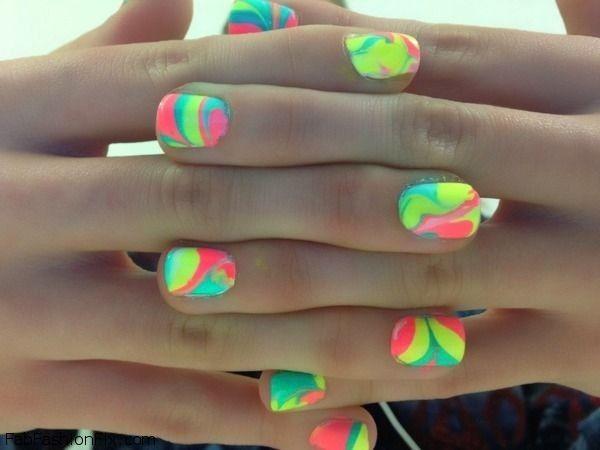 Bright neon nails inspiration