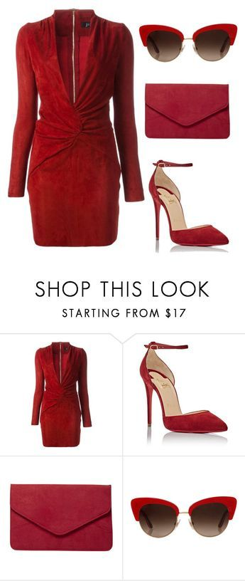 """""""Runaway in red"""" by cover-styler ❤ liked on Polyvore featuring Jitrois, Christian Louboutin, Dorothy Perkins and Dolce&Gabbana"""