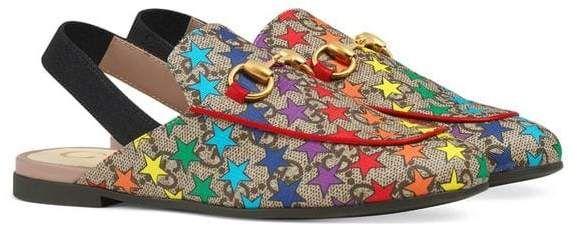 e22ae1ccd69 Gucci Kids Children s Princetown GG rainbow star slipper