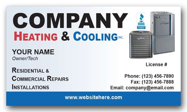 Ac Heating Amp Cooling Business Card Business Cards And