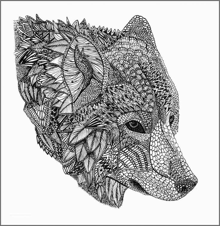 Wolf Coloring Pages for Adults | Animal coloring pages ...