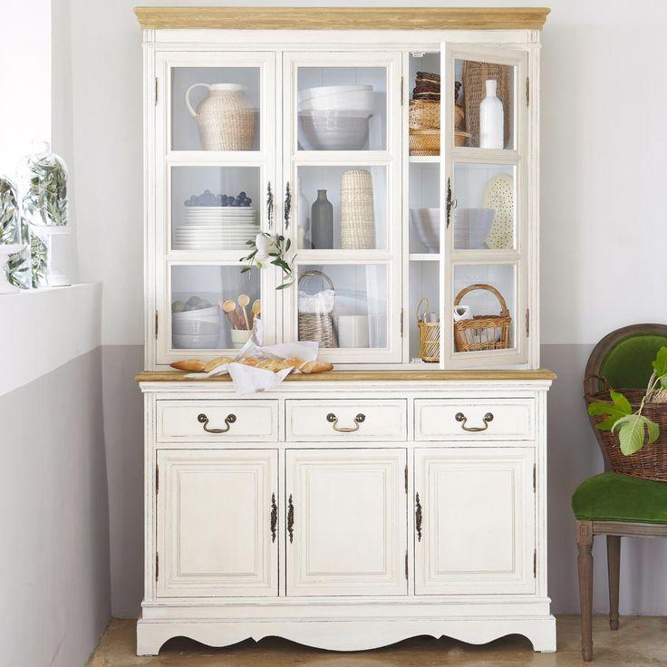 vaisselier en bois de paulownia cr me l 123 cm l ontine maisons du monde kitchen accessories. Black Bedroom Furniture Sets. Home Design Ideas