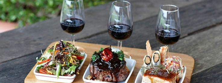 The ultimate food and wine matching experience at RiverBank Estate in Perth's Swan Valley. Three sample dishes from the a la carte menu perfectly paired with three half standard serves of matching wine. Available Monday to Friday lunch.