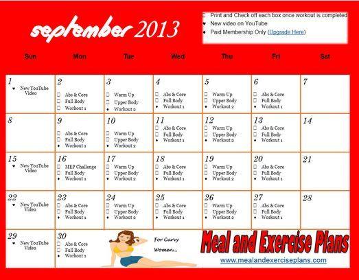 13 best Motivational Calendars images on Pinterest Motivational - sample workout calendar
