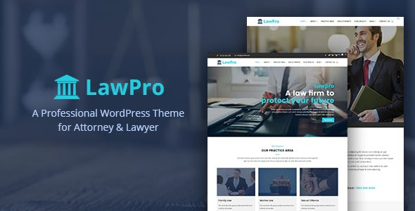 Lawpro - A Professional WordPress Theme for Attorney & Lawyer by catchpixel Lawprois a professional WordPress theme for Attorney & Lawpro web pages. Lawpro is perfect for professionals who need to showcase