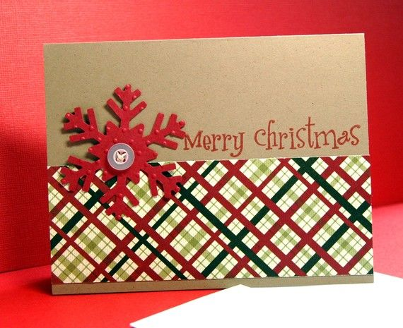 snowflake Christmas card - I could make the flake with my cricut!