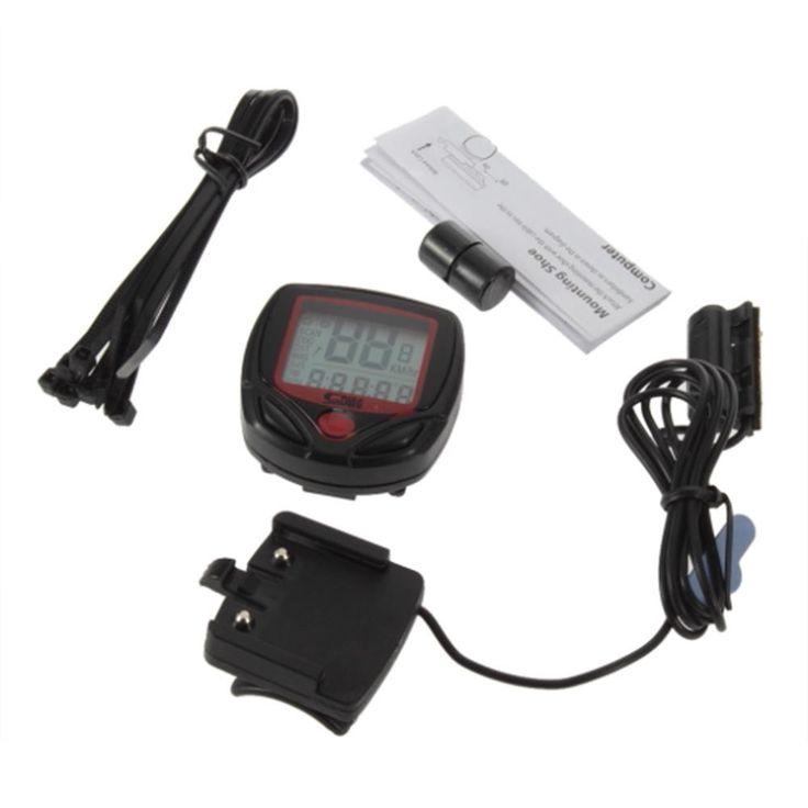 Digital LCD Clock Stopwatch Odometer and Speedometer