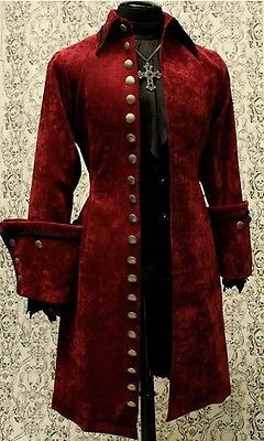 SHRINE GALLEON VELVET GOTHIC VAMPIRE VICTORIAN PIRAT COAT JACKET GOTH STEAMPUNK