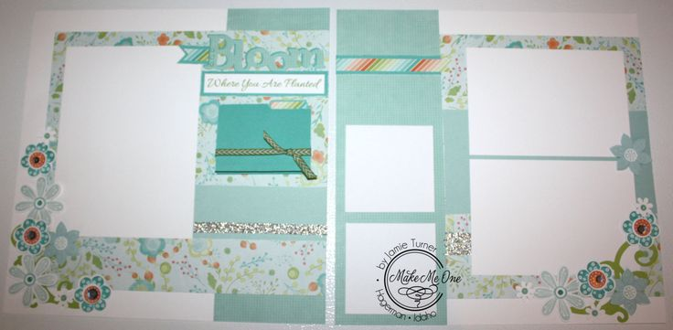 Bloom Where You are Planted pre-made Scrapbook pages CTMH by Jamie Turner by MakeMeOneJamie on Etsy