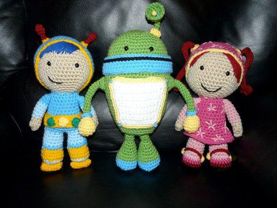 Free Crochet Pattern Umizoomi : Crochet Team Umizoomi Inspired dolls - Value Pack