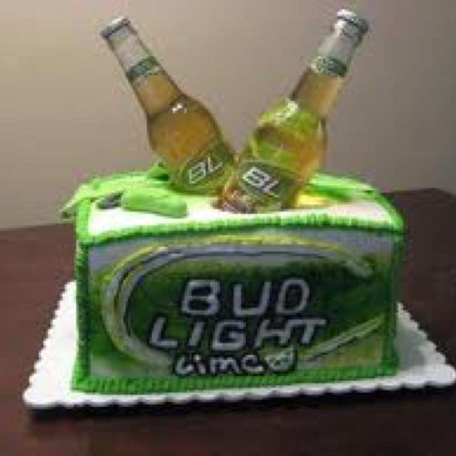 Bud Light Lime Birthday Cake