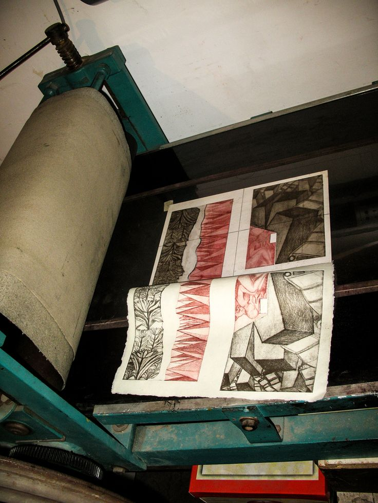 carte bibliofila 2. imprimarea gravurilor, la presa orizontala cu cilindri. placile gravate si gravurile imprimate