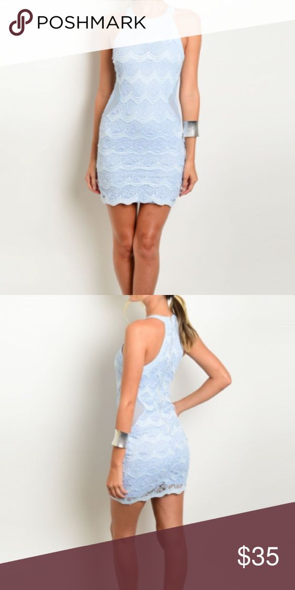 ✨NEW Sky blue lace dress✨ ✨No trades 🙅🏽                                                      ✨Price is firm                                                      ✨Brand new                                                     ✨Same day or next day shipping ✈️  ✨Unbranded                                                            ✨100% polyester Blue Life Dresses Mini