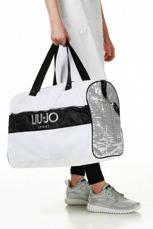 Liu Jo Sport Big Bag   Holdall Hole   Weelendtas   Zwart Wit Zilver   Bestel online
